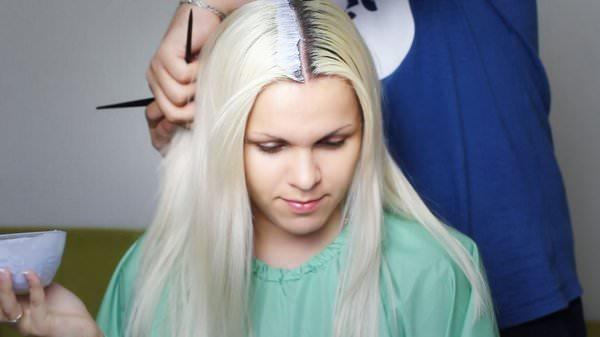 Сонник волосы покрасить в белый цвет